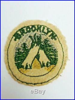 Vintage BSA Boy Scout Camp Patch Wool 1917 1920 BROOKLYN New York