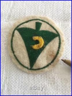 Vintage BSA Felt Patch Lot (4) Rare Boy Scouts of America