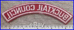 Vintage BUCKTAIL COUNCL Boy Scout Red & White Half Strip PATCH RWS Uniform PA
