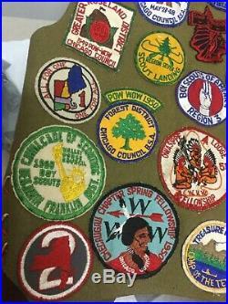Vintage Boy Scout 1940s/50s Chicago Region 7 Vest Patches Badges Pins Good Cond