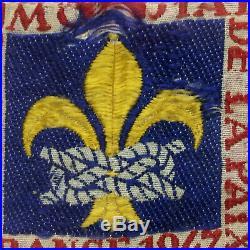 Vintage Boy Scout 1947 World Jamboree Button Patch Bourgogne France Jambo