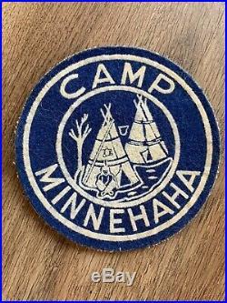Vintage Boy Scout Camp Minnehaha felt Patch 1950s