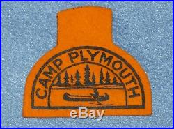 Vintage Boy Scout Camp Plymouth Orange Felt Patch Vermont, Coolridge Council