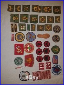 Vintage Boy Scout Sash with 25 Patches and 50 Various other Boy Scout Patches