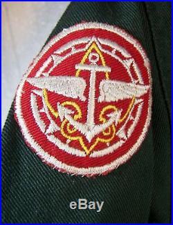 Vintage Boy Scout Uniform Shirt 1950'S withPatches Detroit MI Michigan Troop 129