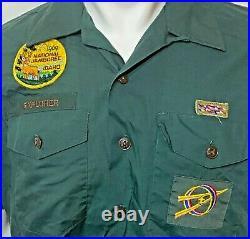 Vintage Boy Scout Uniform Shirts & Patches LOT of 10