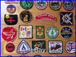 Vintage Boy Scout Vest Patches Badges 1940s 60s Lifetime Collection USA