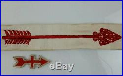 Vintage Boy Scouts Of America Order Of The Arrow (OA) Sash, Patch & Pins