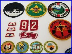 Vintage Boy Scouts Patches Lot of 44 Roundup Jamboree Merit Badges 1970's