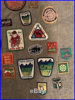 Vintage Boy Scouts Poncho 100+ Patches Badges Canada