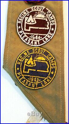 Vintage Boy Scouts Sash Merit Badges 1930s-1940s Era Patches, Pins, Medals, Camp