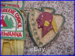 Vintage Boy Scouts Smokey The Bear Anawanna Patches Book Ided Ring Washington Pa