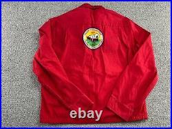 Vintage Boy Scouts of America Jacket Red Bamberg South Carolina Patch 60s VTG