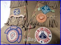 Vintage Boy Scouts patches vest pins Cub Scouts BSA Detroit 309 1940s felts