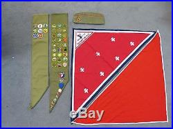 Vintage Bsa Lot 2 Sashes 1 Hat 22 Loose Patches 35 Merit Patches 7 Pins