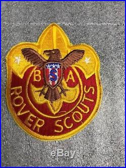 Vintage Bsa Rover Scout Patch Jacket & Pocket Rare 5 3/4 & 3 3/4 Tall Mint