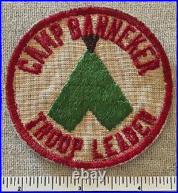 Vintage CAMP BANNEKER TROOP LEADER PATCH Boy Scout BSA Segregated RARE