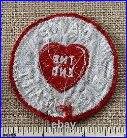 Vintage CAMP BIG HEART The End Boy Scout Badge PATCH Gulf Coast Council Florida