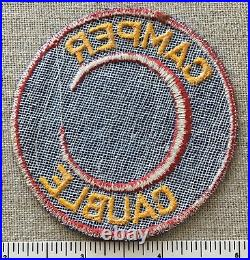Vintage CAMP CAUBLE Boy Scout Firecrafter Camper PATCH Sekan Area Council OA 433