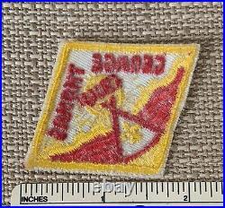 Vintage CAMP GEORGE THOMAS Boy Scout HAT DIAMOND PATCH BSA Camper Uniform OK