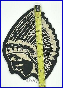 Vintage Felt Indian Chief Patch (boy Scouts) (indian Motorcycle)