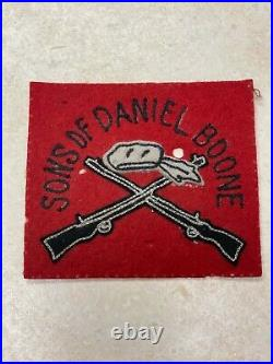 Vintage Felt Sons of Daniel Boone Patch by Standard Pennant