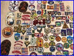 Vintage Huge Lot of 157 Patches Badges Camps Boys Scouts Car Manufacturer