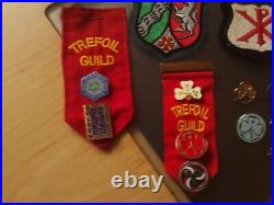 Vintage Joblot Boy Scouts/Girl Guides Scouting Scarf/Badges/Patches/Compass Etc