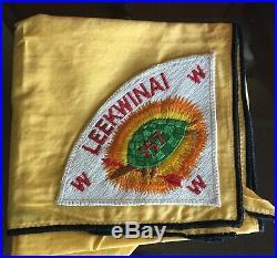 Vintage LEEKWINAI LODGE 157 Order of the Arrow NECKERCHIEF Pie Patch P1 OA IL