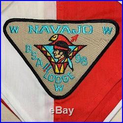 Vintage NAVAJO LODGE 98 Order of the Arrow NECKERCHIEF OA Pie Patch WWW P1 Scout
