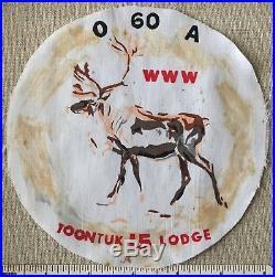 Vintage OA Lodge 549 TOONTUK J1 Cloth Circle Cut PATCH Midnight Sun Council AK