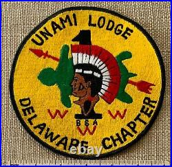 Vintage OA UNAMI LODGE 1 ONE Delaware Chapter Order of the Arrow JACKET PATCH