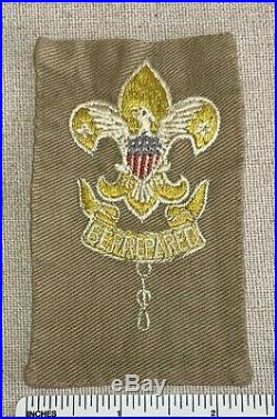 Vintage SCOUTMASTER Boy Scout Adult Leader POSITION PATCH BSA Tan Badge EARLY