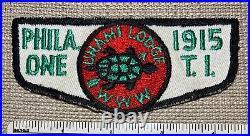 Vintage UNAMI LODGE 1 Order of the Arrow Flap PATCH OA Philadelphia Council PA