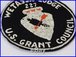 Vtg 1940s BSA OA R1 WETASSA 227 LODGE US GRANT COUNCIL FELT Patch