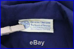 Vtg 1970/80s BSA Boy Scouts Den Mother Uniform Dress Blue Belt Patches Pockets