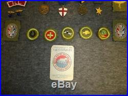 Vtg Bsa Boy Scout 1950 Jamboree Scrapbook/1950-56 Badges, Patches, Pins-troop 39