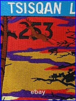 Vtg Order Of The Arrow Tsisqan Lodge BSA Jacket Patch Oregon Trail Council 253