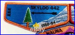 WAUNA LA-MON'TAY OA 442 259 3-PATCH FF MERGED X-1 DEATH FIRST FLAP SET with papers