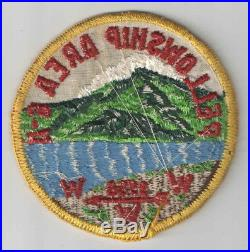 WOW 1956 Area 6-A 6A Fellowship Conclave Patch Wahissa Lodge 118 Camp Raven Knob
