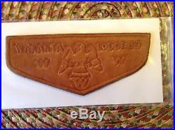 Wakanta Merged OA Lodge 84 TOUGH MINT Leather Scout Flap Patch