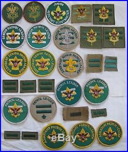 Youth Leader Lot of 29 Boy Scout Position Pocket Patches BSA