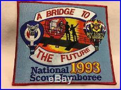 (mr3) Boy Scouts 1993 Nat Jamboree NESA small and jacket patch set